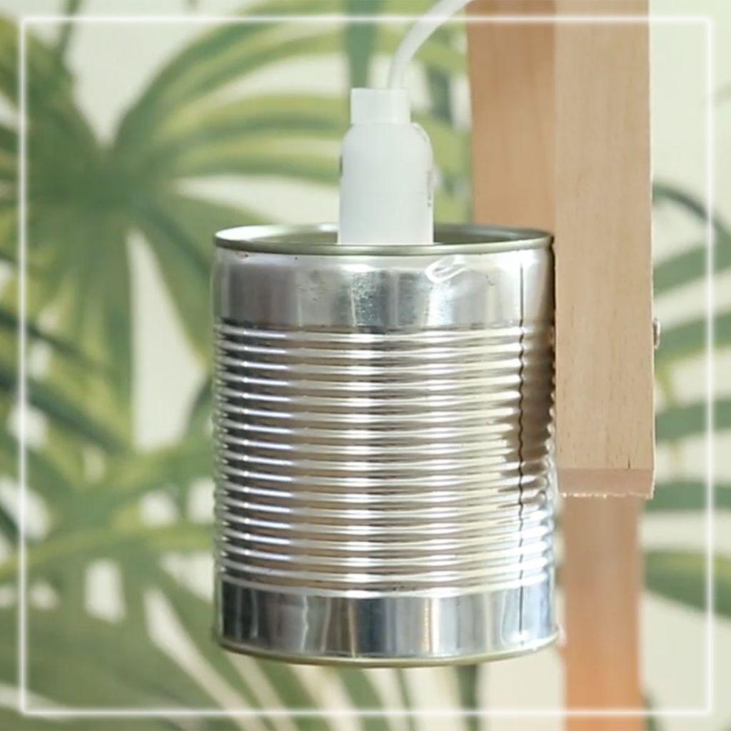 Fabriquer Une Applique En Bois comment fabriquer une lampe recup - elle décoration
