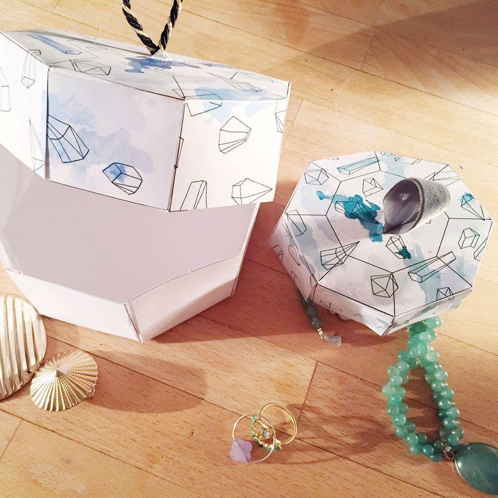 Comment Customiser Une Boite A Chaussure boîte à bijoux: comment faire sa propre boîte à bijoux. - elle