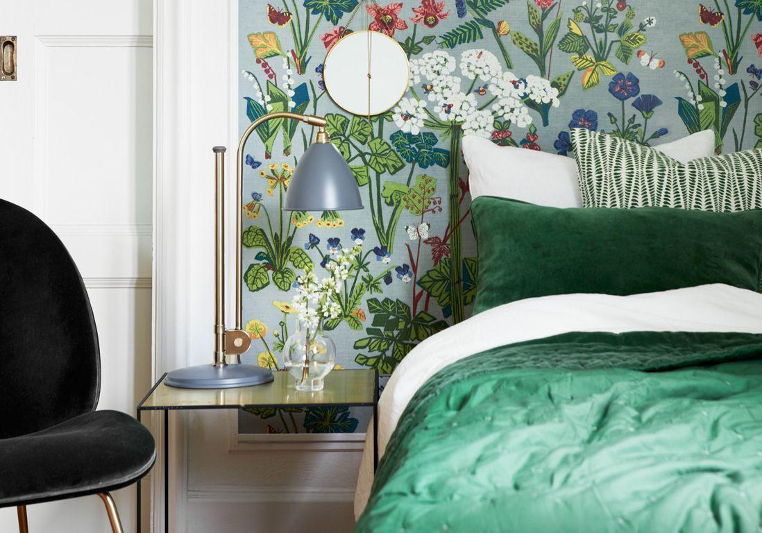 Chambre verte : les vertus d\'une chambre verte - Elle Décoration