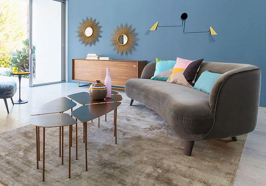 Idee Deco Salon Design 1 salon vintage, 8 idées déco qu'on adore - elle décoration