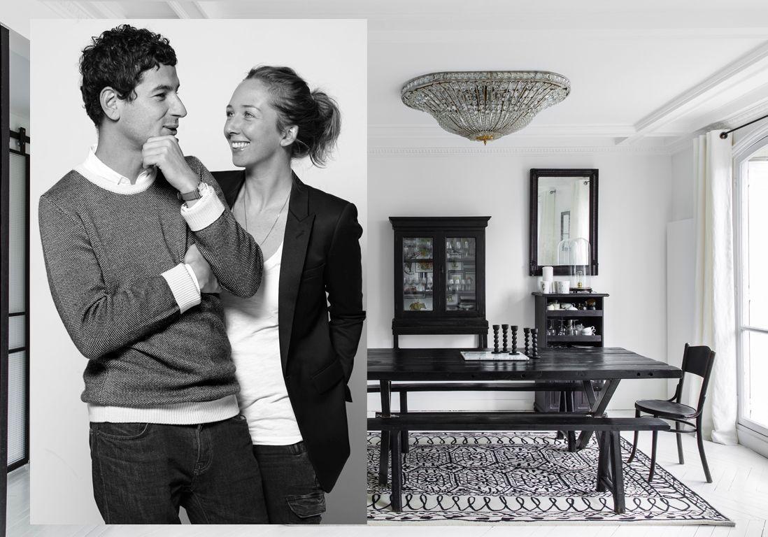 Deco Noir Et Blanc décoration appartement noir et blanc : un appart' 100% noir