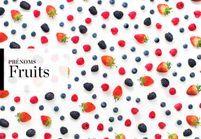 Notre sélection de prénoms de fruits