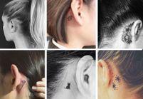 20 idées de tatouages derrière l'oreille jolis et discrets