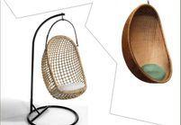 1 objet, 2 budgets : le fauteuil Oeuf suspendu versus le modèle AM.PM.