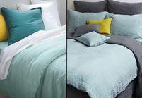 1 objet, 2 budgets : le linge de lit en lin Merci versus celui de La Redoute