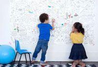 Vive la décoration à colorier par les enfants !
