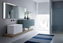 Et si on craquait pour une salle de bains bleue ?