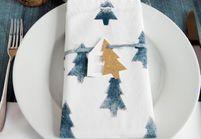 DIY : créer ses serviettes de table pour Noël