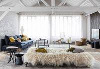 Un loft décoré dans un esprit chalet, parfait pour l'hiver