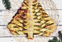 Noël express : le sapin feuilleté pesto fromage
