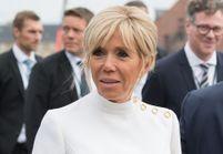 Brigitte Macron : en robe longue blanc et argent comme une princesse du Danemark
