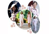 Meghan Markle, Melania Trump, Queen Letizia : pourquoi elles portent toutes du rose pastel ?