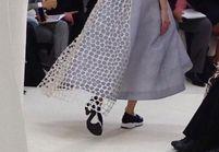On adore les baskets couture du défilé Dior