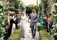 Beatrice Borromeo en Armani Privé pour son mariage religieux avec Pierre Casiraghi