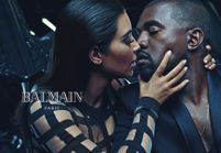 Toutes les images de la nouvelle campagne Balmain avec Kim Kardashian et Kanye West