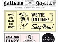 John Galliano ouvre son premier e-shop
