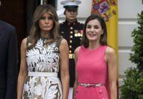 Letizia d'Espagne et Melania Trump portent la même robe, au même endroit