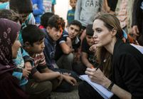 Angelina Jolie rend visite aux réfugiés syriens
