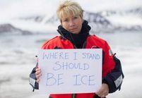 Emma Thompson en Arctique contre le réchauffement climatique
