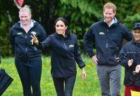 Meghan Markle et le Prince Harry : concours de lancer de bottes en caoutchouc en Nouvelle-Zélande
