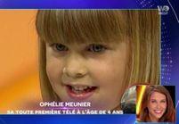 Quand Ophélie Meunier, 4 ans et demi, participait à « L'école des Fans »