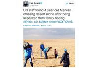 Réfugiés syriens: à 4 ans, Marwan bouleverse Twitter