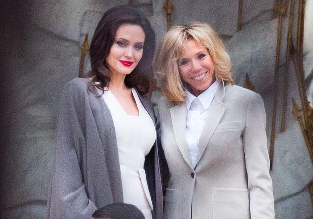ParisRencontre Jolie Avec Visite Du À Brigitte Macron Et Angelina dBtsroCxhQ