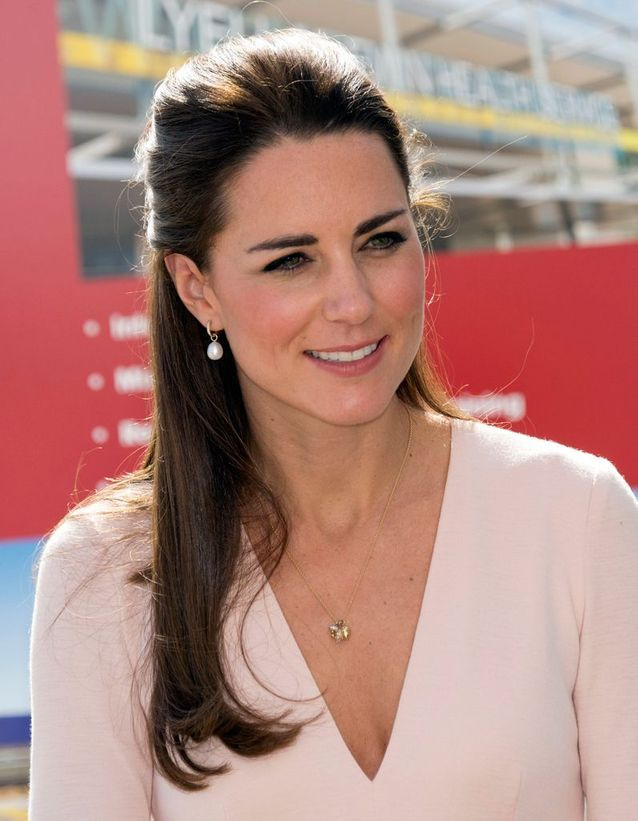Coiffure Kate Middleton cheveux longs