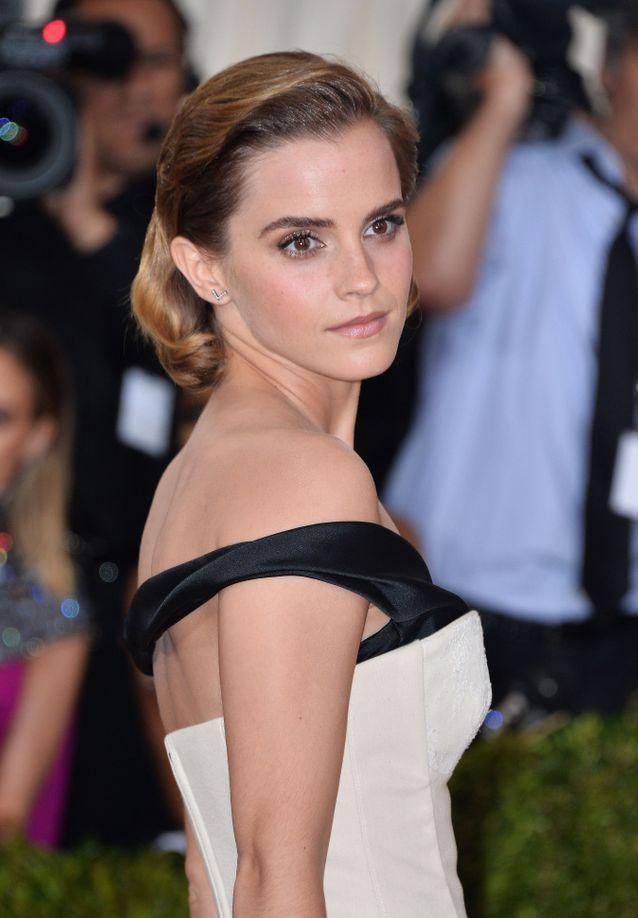 Le chignon rétro de Emma Watson
