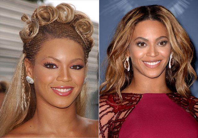 Les sourcils de Beyoncé avant/après