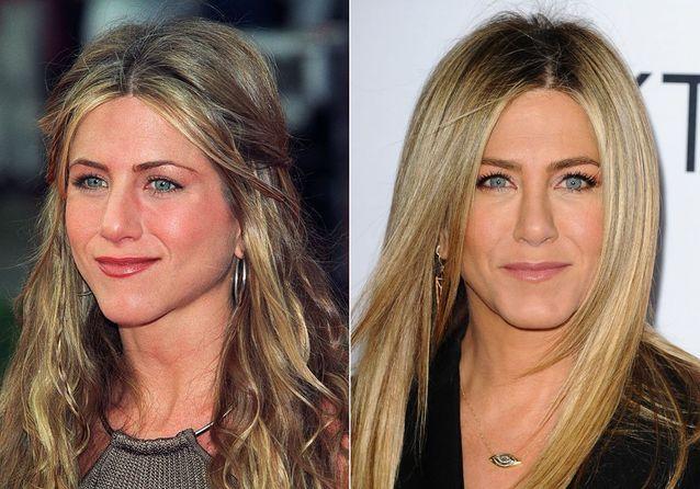 Les sourcils de Jennifer Aniston avant/après