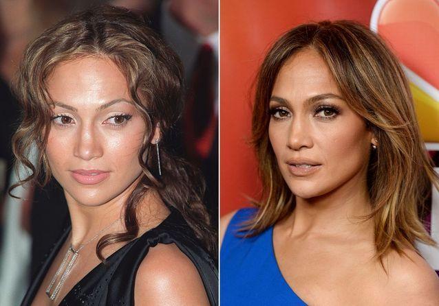 Les sourcils de Jennifer Lopez avant/après