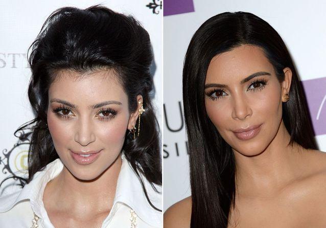 Les sourcils de Kim Kardashian avant/après