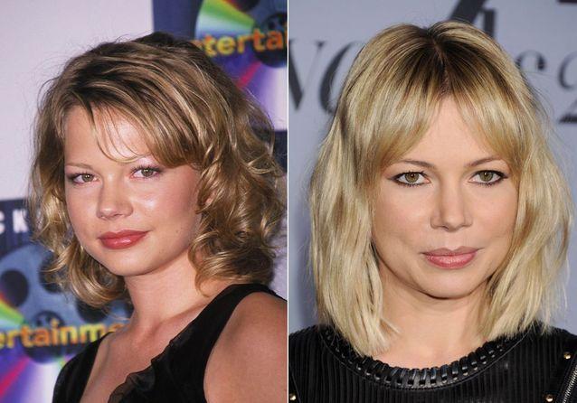 Les sourcils de Michelle Williams avant/après