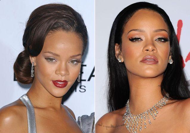 Les sourcils de Rihanna avant/après