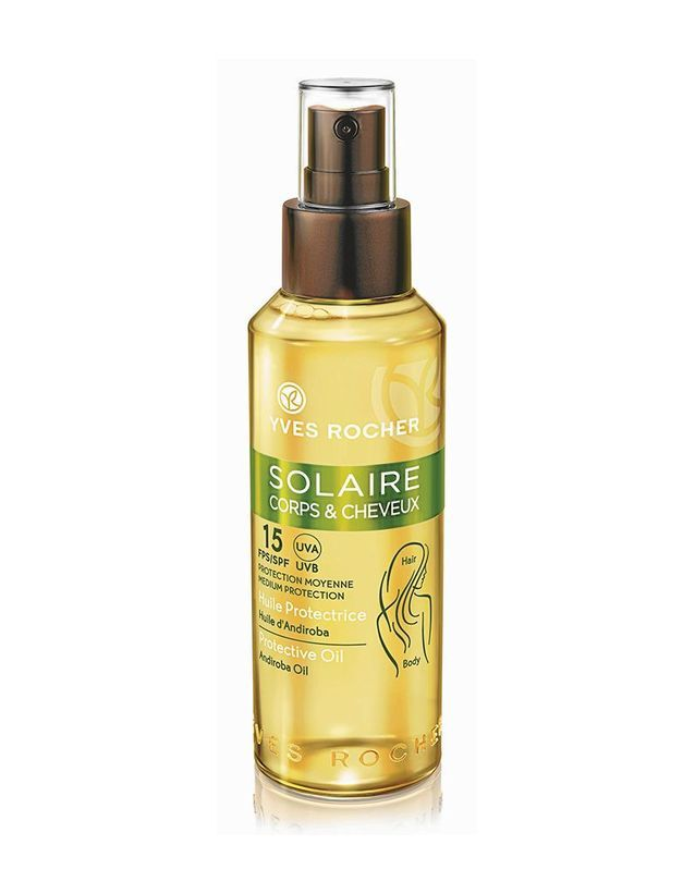 """Résultat de recherche d'images pour """"huile protection solaire cheveux yves rocher"""""""