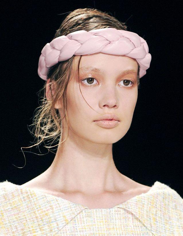 Bandeau cheveux rose