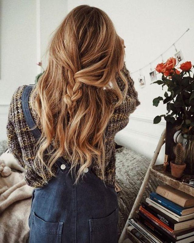 Cheveux attachés décontractés automne-hiver 2017