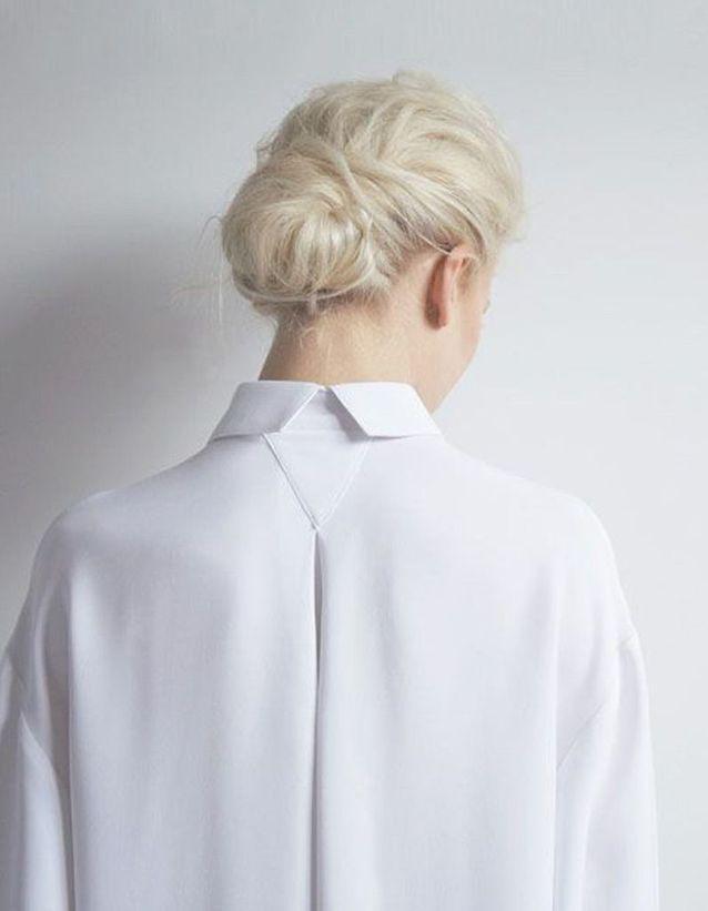 Modèle coiffure cheveux attachés automne-hiver 2016