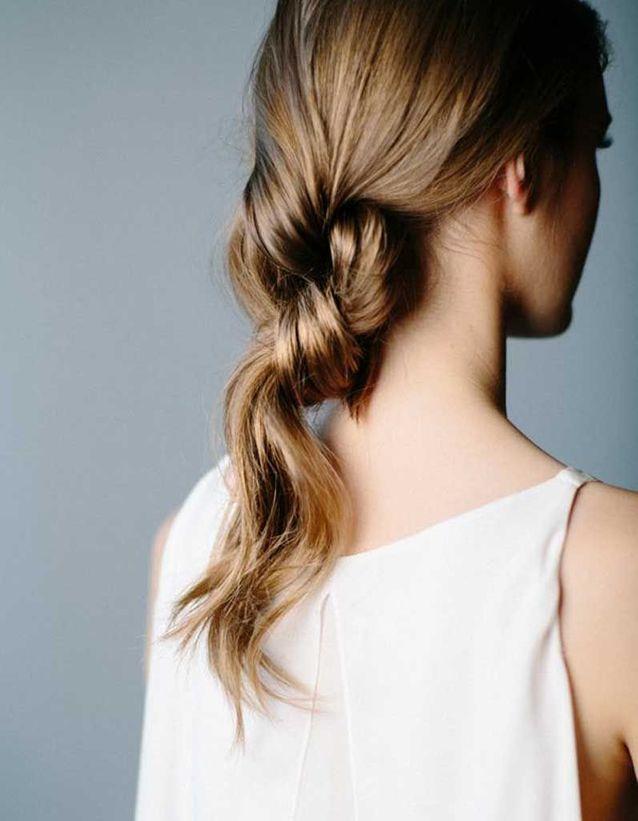 Coiffure cheveux fins élégante