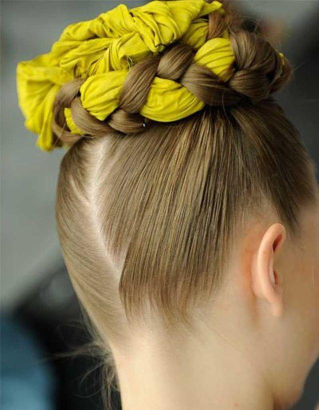 Coiffure cheveux fins foulard