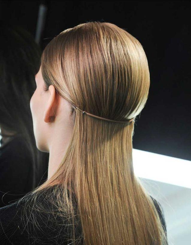 Coiffure cheveux fins simple