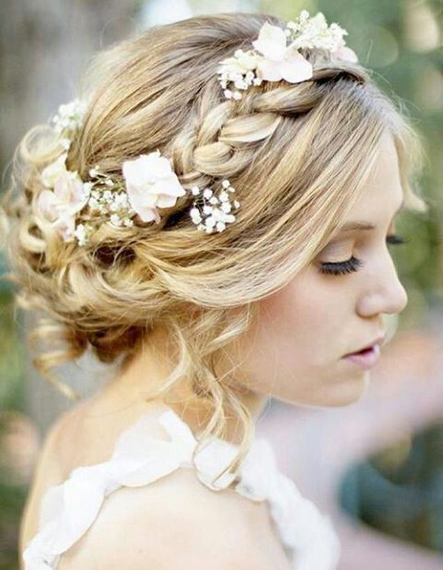 Chignon de mariée avec headband