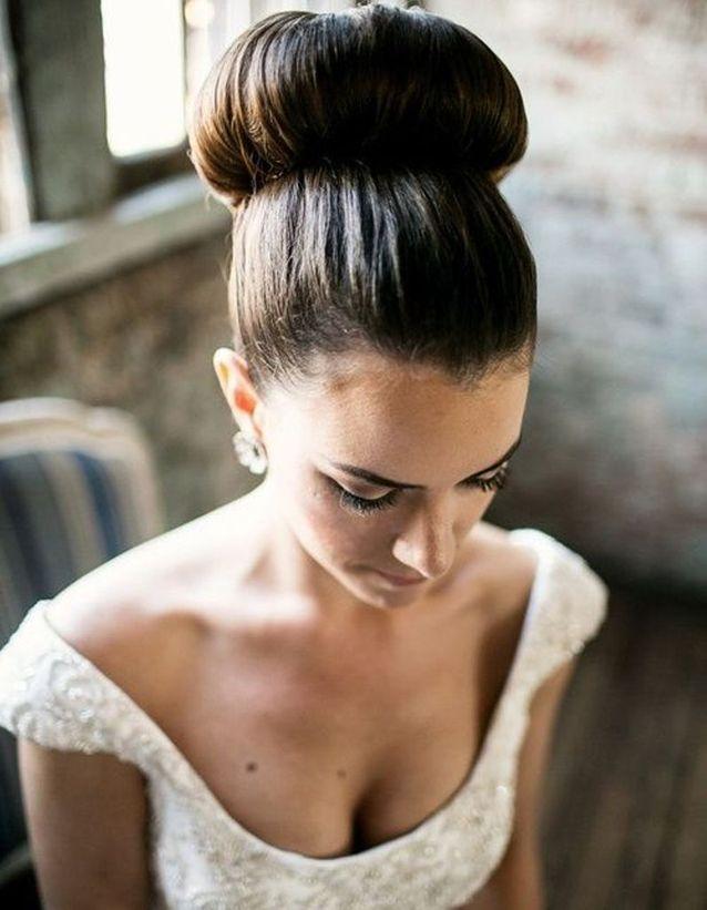 Chignon de mariée boule