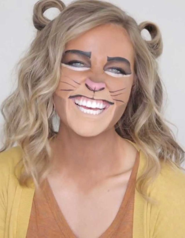 Coiffure Halloween lion