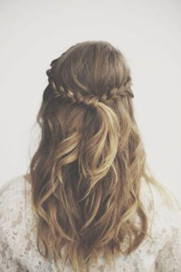 Coiffure mariage demi,queue , 40 coiffures de mariage rock