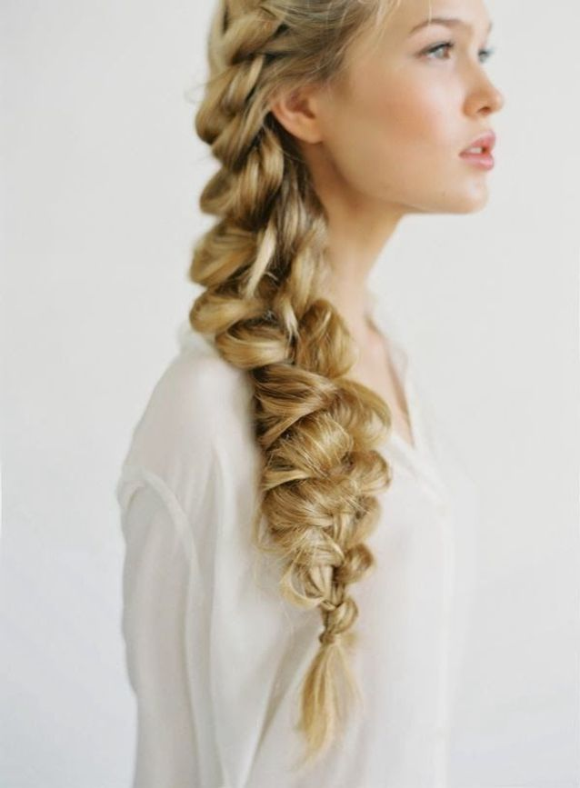 Coiffure mariage side hair