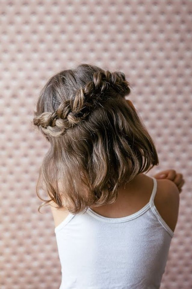 Coiffure Petite Fille Avec Tresse 40 Coiffures De Petite Fille Qui