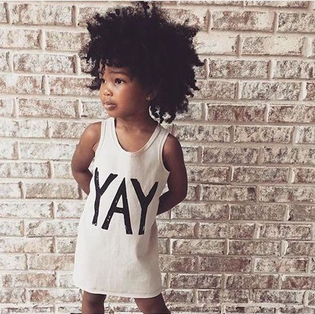 Coiffure petite fille cheveux crépus , 45 coiffures de