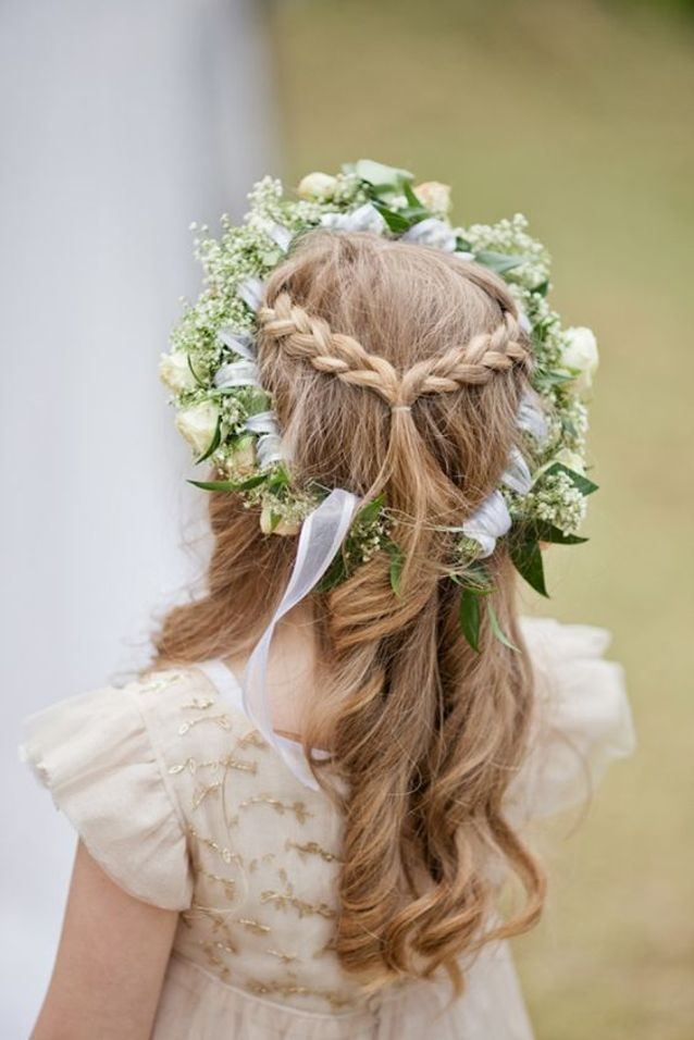 Photos coiffure petite fille mariage